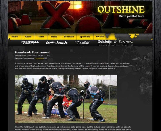 Outshine paintball team